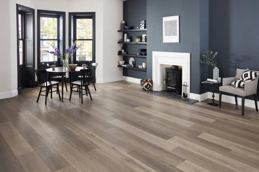Karndean Korlok simple click lock fitting laminate flooring. Waterproof Wood Effect Laminate Kitchens and Bathrooms - Click image to link to laminate flooring page