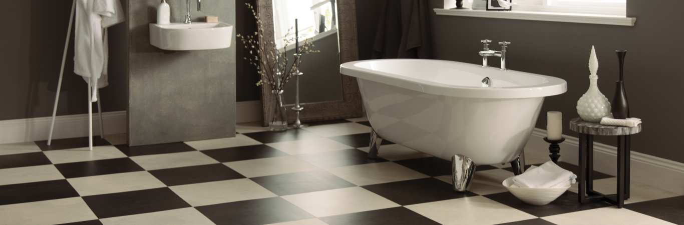 Karndean Opus – Stone Bathroom Flooring example from Coytes Carpets in Burton on Trent